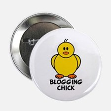 "Blogging Chick 2.25"" Button"