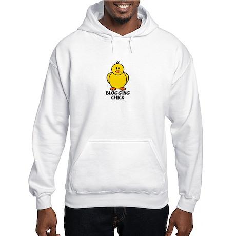 Blogging Chick Hooded Sweatshirt