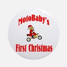 MotoBaby's First Christmas Ornament (Round)