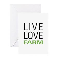 Live Love Farm Greeting Card