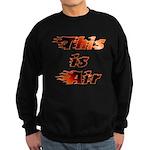 The On Fire Air Guitar Sweatshirt (dark)