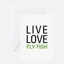 Live Love Fly Fish Greeting Card