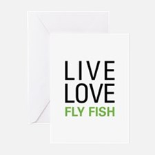 Live Love Fly Fish Greeting Cards (Pk of 20)
