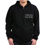 The Man's Work Zip Hoodie (dark)