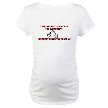12 Step SVU Program Maternity T-Shirt