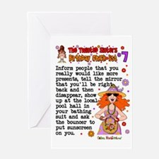 Twisted Sister Chicklist #7 Greeting Card
