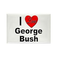 I Love George Bush Rectangle Magnet