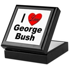 I Love George Bush Keepsake Box