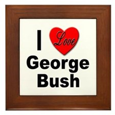 I Love George Bush Framed Tile