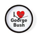 I Love George Bush Wall Clock