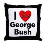 I Love George Bush Throw Pillow