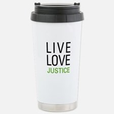Live Love Justice Stainless Steel Travel Mug