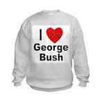 I Love George Bush (Front) Kids Sweatshirt