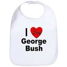 I Love George Bush Bib