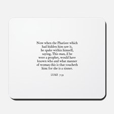 LUKE  7:39 Mousepad