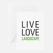 Live Love Landscape Greeting Card