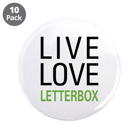 """Live Love Letterbox 3.5"""" Button (10 pack)"""
