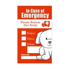 In Case of Emergency Rectangle Decal