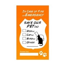 Save Our Pets Rectangle Decal