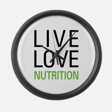 Live Love Nutrition Large Wall Clock
