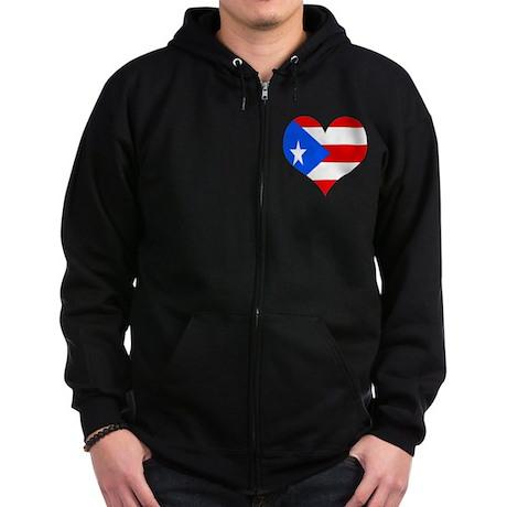 Love 4 Puerto Rico Zip Hoodie (dark)