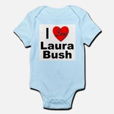 I Love Laura Bush Infant Creeper