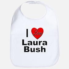 I Love Laura Bush Bib