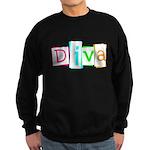 Abstract Diva Sweatshirt (dark)