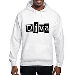 Abstract Diva Hooded Sweatshirt