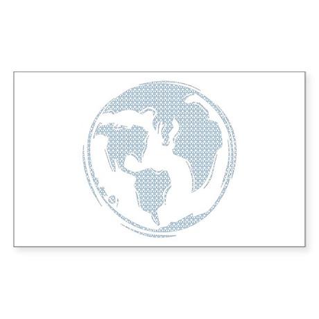 World Peace (blue) Rectangle Sticker