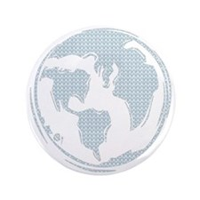 "World Peace (blue) 3.5"" Button"