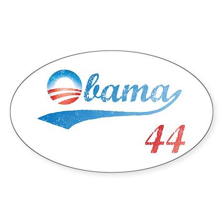 PRESIDENT OBAMA 44 Oval Sticker