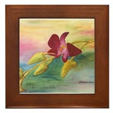 Orchid Framed Tile
