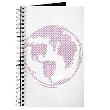 World Peace (pink peace symbols) Journal