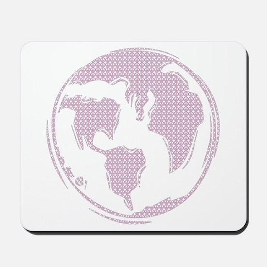 World Peace (pink peace symbols) Mousepad