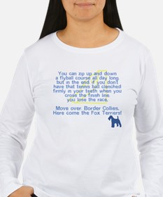 Move Over Wire Fox Flyball Women's Long Sleeve Tee
