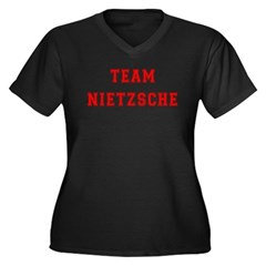 Team Nietzsche Women's Plus Size V-Neck Dark T-Shi