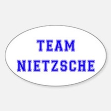 Team Nietzsche Oval Decal