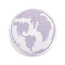 "World Peace (purple peace signs) 3.5"" Button"