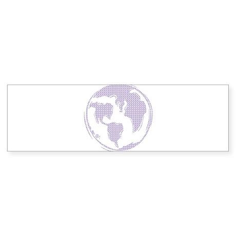 World Peace (purple peace signs) Bumper Sticker