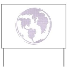 World Peace (purple peace signs) Yard Sign