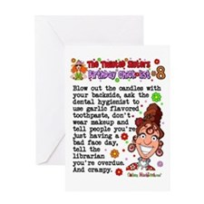 Twisted Sister Chicklist #8 Greeting Card