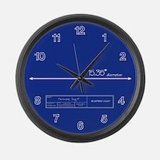 Blueprint Large Wall Clock