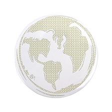 "Yellow Hippie Symbol World Peace 3.5"" Button"