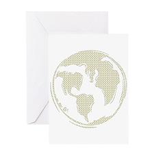 Yellow Hippie Symbol World Peace Greeting Card