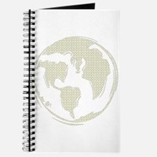 Yellow Hippie Symbol World Peace Journal