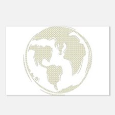Yellow Hippie Symbol World Peace Postcards (Packag