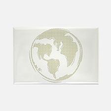 Yellow Hippie Symbol World Peace Rectangle Magnet