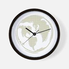 Yellow Hippie Symbol World Peace Wall Clock