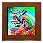 Miracles Happen (Color Wave) Framed Tile